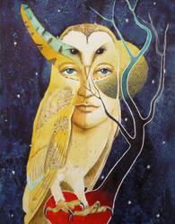 Spirit of the Owl by paintedmonke