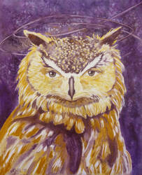 Golden Owl by paintedmonke