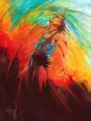 Breaking out of darkness by paintedmonke