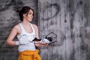 Chell Portal 2 cosplay by PrincessAlbertSwe