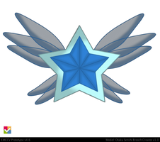 Grand Proto Sailor Mercury Brooch by Iggwilv
