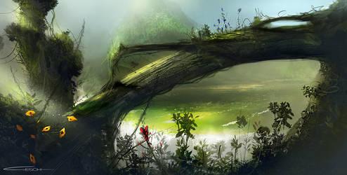 Landscape, Jungle fall by G-ESCH
