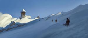 Freezing Mountainside by Fleret