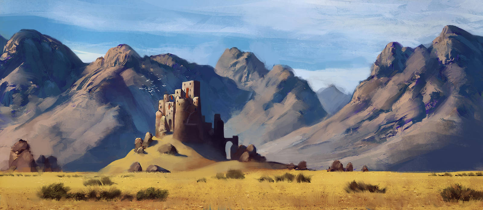 Desert Outpost III by Fleret