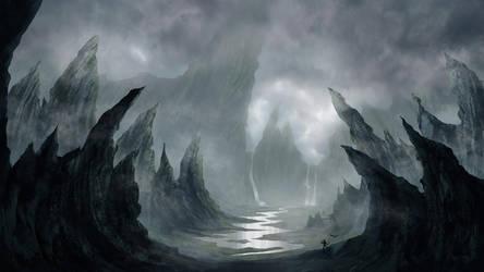 fantasy landscape by kevinPage