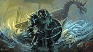 Viking warrior by vempirick