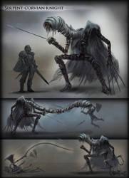 Serpent-Corvian Knight by vempirick