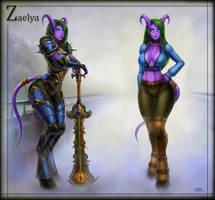 Zae character sheet by vempirick