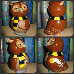Hufflepuff Owl collage by lastunicorn83