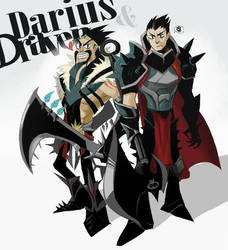 Draven and Darius by inkinesss