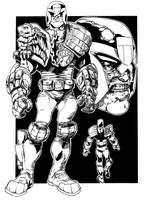 Judge Dredd Cartoony by jakebilbao