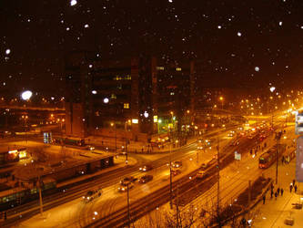 snowy night by agnese9