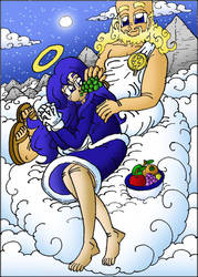 What Could Have Been XXXIII-Zeus and Sonic Girl by JDC-Comics-Online