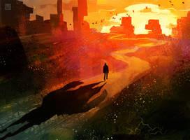 Sunset Shadow by StephanieStutz