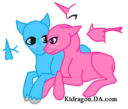 Free Couple Pony Base by KTdragon