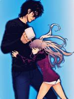 Mamoru and Haruka Sweet Moment by simplyKia