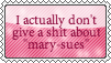 Mary Sues? meh by Squids-Stamps