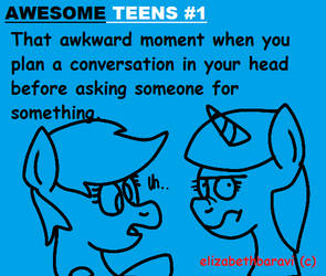 AWESOME TEENS #1 by OfficialElizabethArt