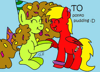 Ponko Pudding by OfficialElizabethArt