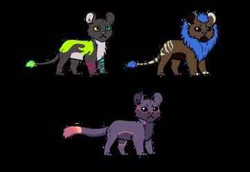 Feline Adopts 1/3 Open by neonwolf6778