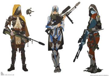Bounty hunter concepts by NikolayAsparuhov