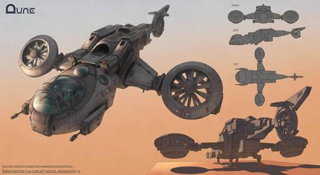DUNE ornithopter concept by NikolayAsparuhov