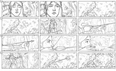 Grey Hunt Storyboard panels 2 by NikolayAsparuhov