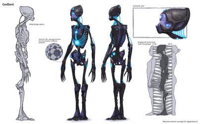 GodSent Mechron minion concept by NikolayAsparuhov