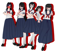 MMD Yandere Simulator - Old Delinquents + DL by FrenchFriesTsun