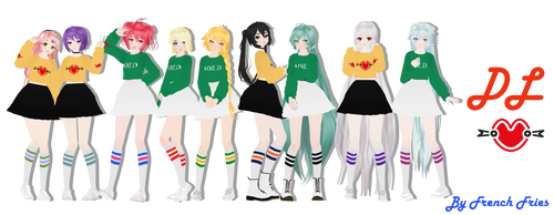 MMD - Tda BBOOM BBOOM models DL by FrenchFriesTsun