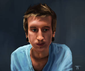 Self Portrait in Blue by TrueInstinct