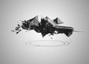 Spacecraft Concept by TrueInstinct