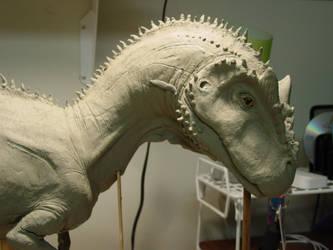 allosaurus sculpture by Dorkasaurus-Rex