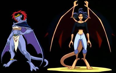 Demona and Elisa by MichaelDRAVEN69