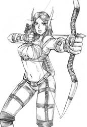 Mango, the elven archer by Blackwalker80