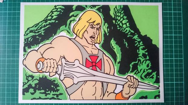 He-Man Papercut final by swiftflik
