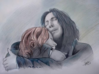 Severus Snape and Lily potter by karlyilustraciones