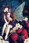 ladybugs and strawberrys by RomanticFae