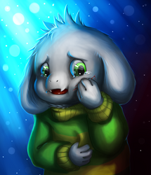 Hurt Asriel by BelieveTheHorror