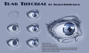 Tear Tutorial by BelieveTheHorror