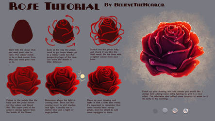 Rose Tutorial by BelieveTheHorror