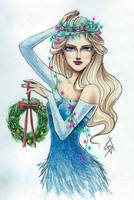 Christmas Elsa by ShiNasty
