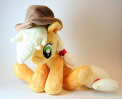 Sitting Applejack Plushie by Yukamina-Plushies