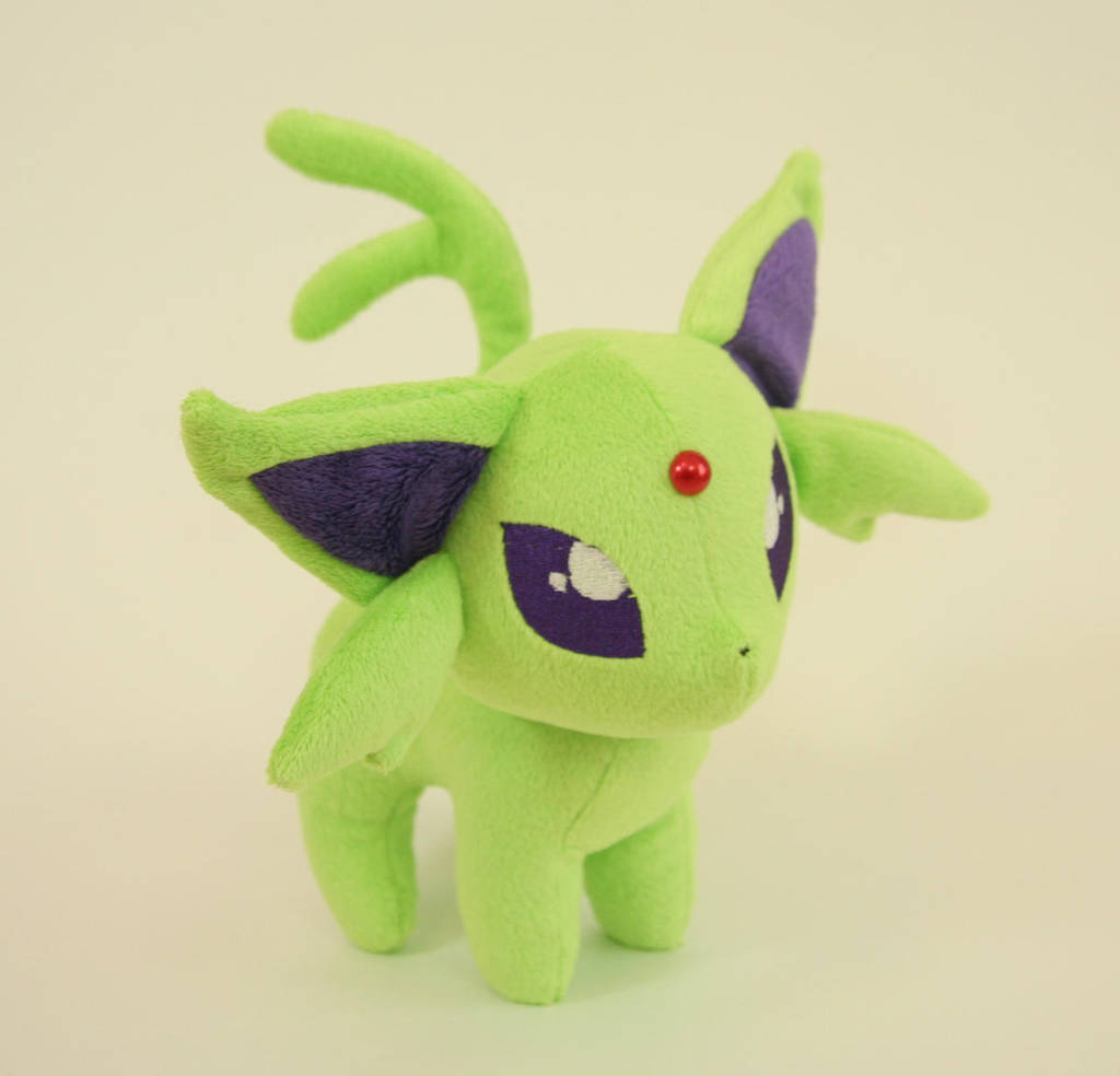 Shiny Espeon Plush by Yukamina-Plushies