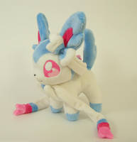 Chibi Sylveon Plush by Yukamina-Plushies