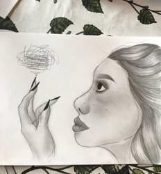 The girl sketch by pattydrawsnshit