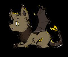 Dat dog-bat-dragon thing by Lulugepi