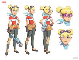 Inspector Gadget : Penny : Model Sheet by nlombardo