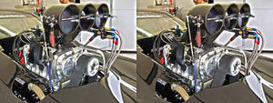 Dragster v8 Engine in 3D (stereoscopic) 3 by Bigburgy