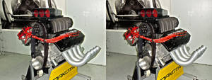 Dragster v8 Engine in 3D (stereoscopic) 4 by Bigburgy